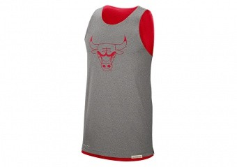 NIKE NBA CHICAGO BULLS STANDARD ISSUE REVERSIBLE TANK UNIVERSITY RED