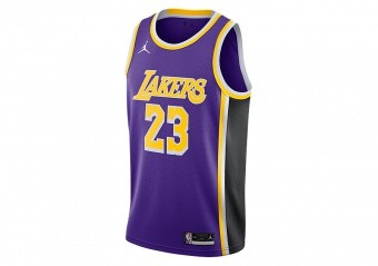 NIKE NBA LOS ANGELES LAKERS LEBRON JAMES STATEMENT EDITION SWINGMAN JERSEY FIELD PURPLE