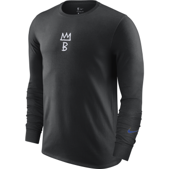 NIKE NBA BROOKLYN NETS COURTSIDE CITY EDITION LONG-SLEEVE TEE