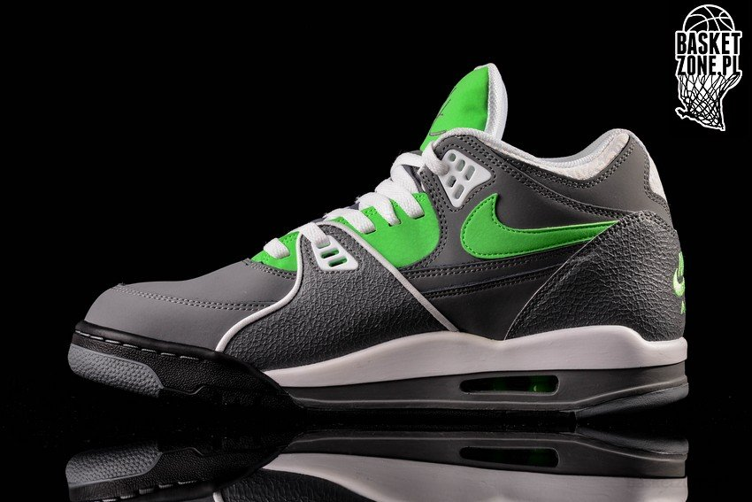 online store 2de2c f3ba1 NIKE AIR FLIGHT  89 COOL GREY POISON GREEN