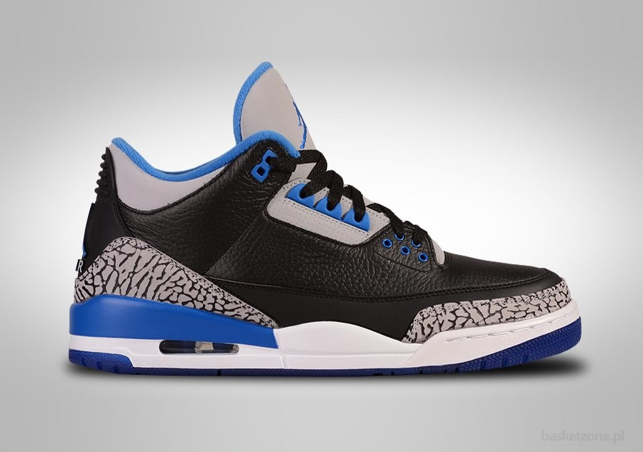 NIKE AIR JORDAN 3 RETRO BLACK SPORT BLUE