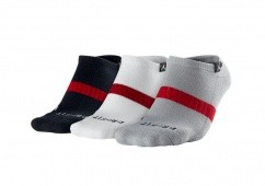 NIKE JORDAN DRI-FIT NO-SHOW 3PK SOCKS