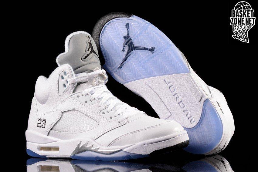 separation shoes 010c7 f403b ... low cost nike air jordan 5 retro white metallic silver 47333 e597a
